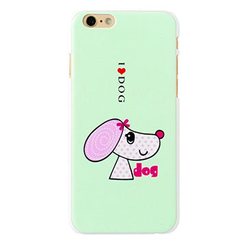 MINI KITTY Funny Cute Man's Best Friend Beautiful Hat Lady Puppy Dog Cell Phone White Plastic Hard Case Cover for iphone 6 4.7 inch