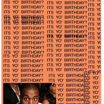 Kanye West TLOP Real Friends Birthday Card (PLAYS ACTUAL SONG)