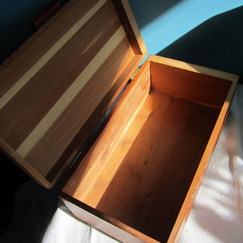 Wood Jewellery Trinket Box - Wooden  Cedar Chest Wonderful Gift Idea