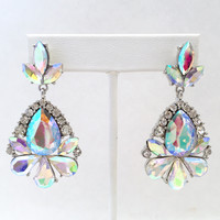 Nebula Iridescent Crystal Earrings