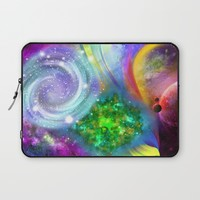 Rainbow space Laptop Sleeve by Haroulita | Society6