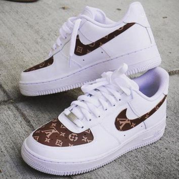 NIKE FORCE 1 & GUCCI X LV Louis Vuitton Co-branded casual shoes F/A