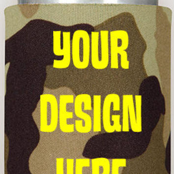 Your design custom coozies, no minimum, coozies, cozy can, wedding favors, birthday coozies, special occassion, design your own coozie, work