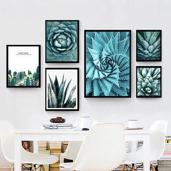 Cactus Flower Nordic Canvas Painting Wall Art Home Decor DIY Green Plant Fresh Modern Print Picture Living Room Decor Poster