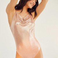 Out From Under Julia Metallic Bodysuit | Urban Outfitters