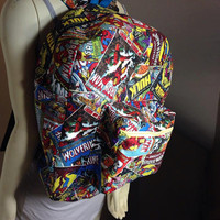 Marvel Comic Book Backpack, also available in other fabric patterns