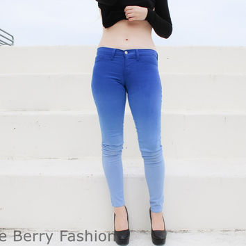Flying Monkey Premium Fabric OMBRE Skinny Pants