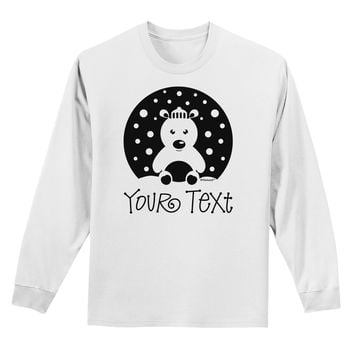 Personalized Matching Polar Bear Family Design - Your Text Adult Long Sleeve Shirt