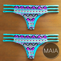 MAIA BOTTOM - Handmade Reversible Brazilian-Cut Bikini Bottom