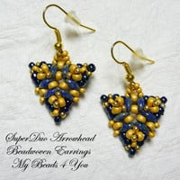 Bead Woven Earrings, Seed Bead Earrings, Beaded Earrings, Beadwork,Beadwoven Earrings,Beaded Jewelry,Beadwork Tutorial, Beading Instructions