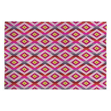 Bianca Green Aztec Diamonds Bright Woven Rug