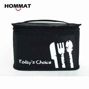 Black Thermal Insulated Lunch Bag for Kids School Lunch Boxs Carry Tote Bag Picnic Cooler Bag PE Foam Aluminum