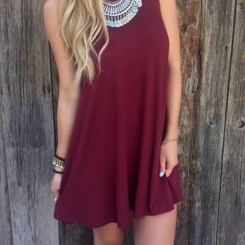 Plain Swing Tank Dress