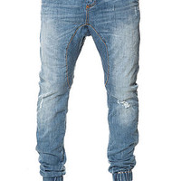 The Slingshot Denimo Joggers in Blow Out Blue