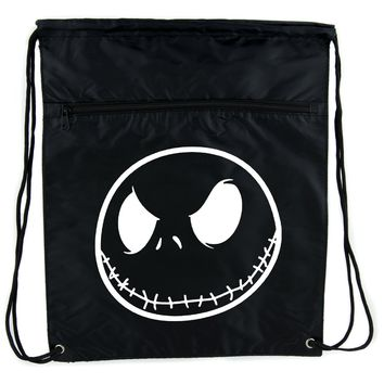 Negative Jack Skellington Cinch Bag Drawstring Backpack Nightmare Before Christmas