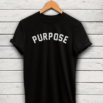 Purpose T-Shirt - Live With Purpose, Gray Shirt, Graphic Tees, Unisex Shirts, Morivational Shirts, Graphic Tees, Famous Basics Shirts