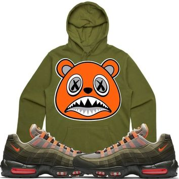 ORANGE BAWS Sneaker Hoodie - Air Max 95 Total Orange Olive OG