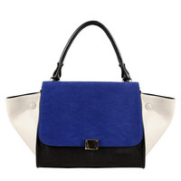 Colour Blocked Winged Tote Bag
