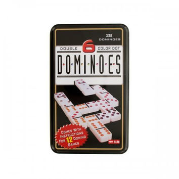 Double 6 Color Dot Dominoes Game Set (pack of 4)