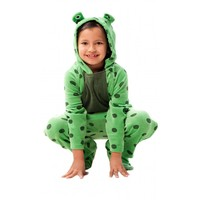 Buy Green Fuzzy Frog Kids Footed Pajamas Online | #1 Pajama Store