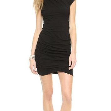 Pam & Gela Twisted Dress with Short Sleeves