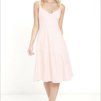 Strappy Flare Mid Dress B0014486