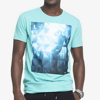 GRAPHIC TEE - GEO MIRROR BALL from EXPRESS