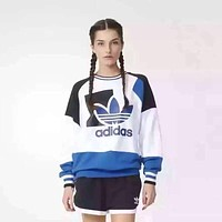 Adidas Letter and Logo Print Long Sleeve Women Casual Sweatshirt Shirt Top Blouse