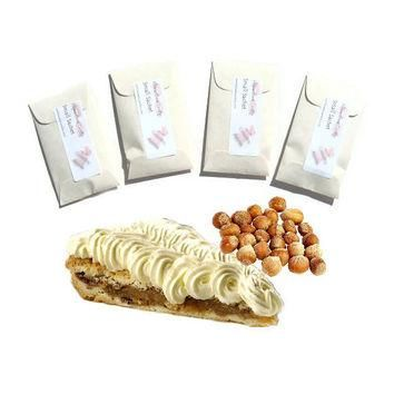 4 Hazelnut Supreme Scented Mini Sachets - Custom Home Fragrance - DIY Favors - Cream S