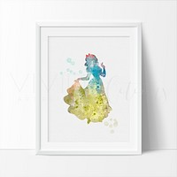 Snow White 2 Watercolor Art Print