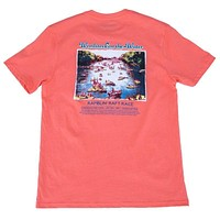 The Hooch Pocket Tee in Salmon Red by Peach State Pride
