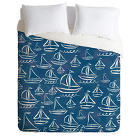 Lisa Argyropoulos Sail Away Blue Duvet Cover
