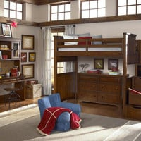Jefferson Twin Size Stairway Loft Bed
