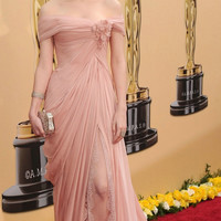 Best Selling Freeshipping Shining Elegant and Classical Off Shoulder Chiffon Evening Dress Celebrity Dress