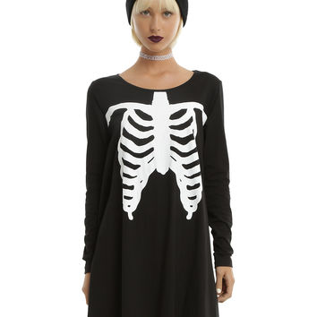 Iron Fist Black Wishbone Trapeze Dress