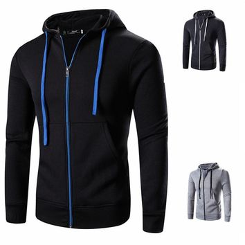 2017 mens Spring & Autumn Casual coat men's classic hoodie apparel top clothes male Hoodies & Sweatshirts Zip Up Hoody Jackets