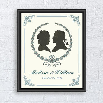 Custom Wedding Gift, First anniversary print, Wall Art Decor, Personalized art poster