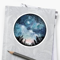 'lake tahoe galaxy' Sticker by stickersnstuff