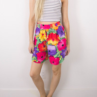Vintage (Size Small OR Medium) Floral High Waisted Shorts