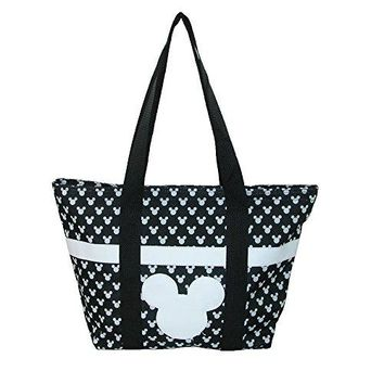Disney Mickey and Minnie Mouse Icon Polka Dot Travel Beach Tote
