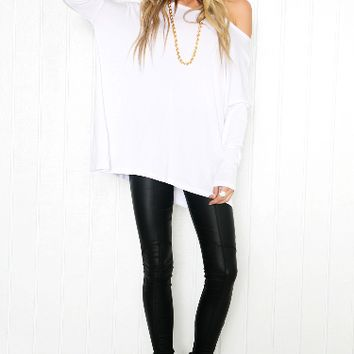 Round Neck Loose Solid Color Shirt