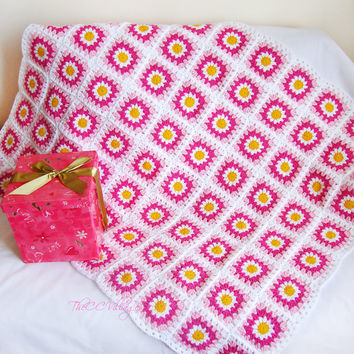 Easy Crochet Flower Blanket Pattern Flowers Healthy