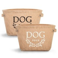 Harry Barker Hemp Dog Toy Storage - Black