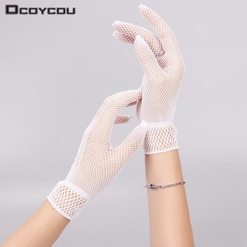1 Pair Hot Sale Party Supplies Cream Lace Pearl Fishnet Gloves Communion Flower Kids Girl Accessories Fashion Style Cheap Sales 50% Apparel Accessories
