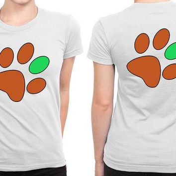 DCCKG72 Ed Sheeran Paw Print B 2 Sided Womens T Shirt