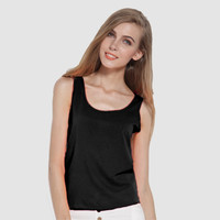 Solid Sleeveless Short Tank Top