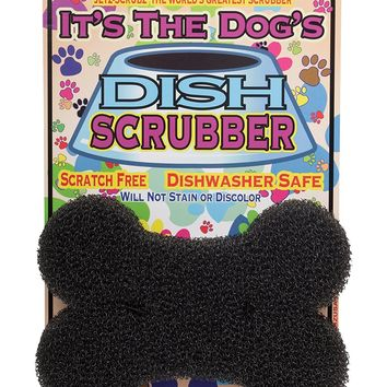 Jetz-Scrubz Dog Bone Shape Pet Bowl Dish Kitchen Scrubber Cleaning Sponge