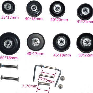 2 PCS 360 spinner upright  Luggage Suitcase Replacement wheels