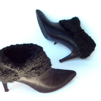 Black Boot Cuffs by krochetlady on Etsy