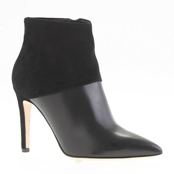 Collection leather and suede ankle boots - boots - Women's shoes - J.Crew